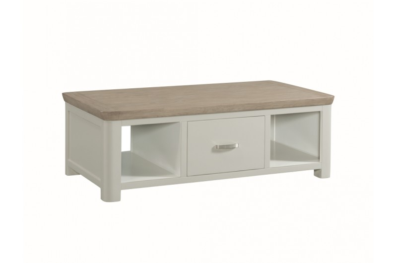 3867 thickbox default Treviso Painted Large Coffee Table With Drawer Metal Handle
