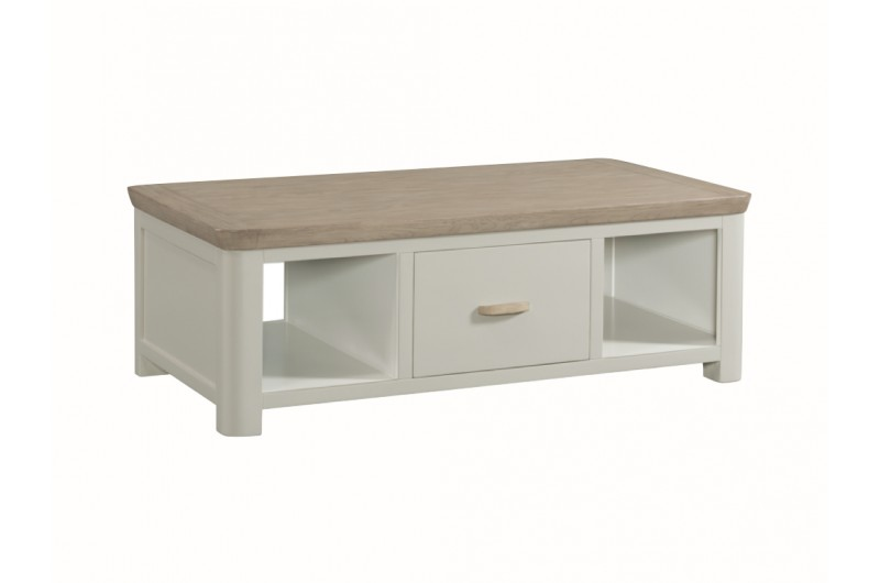 3868 thickbox default Treviso Painted Large Coffee Table With Drawer Wooden Handle