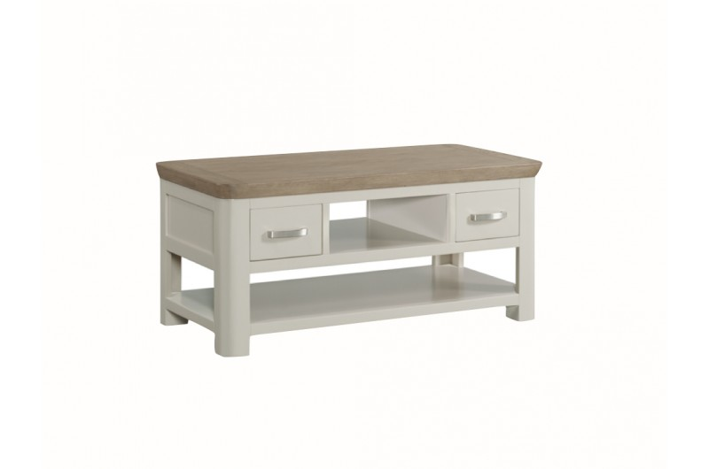 3869 thickbox default Treviso Painted Coffee Table With Drawers Metal Handles