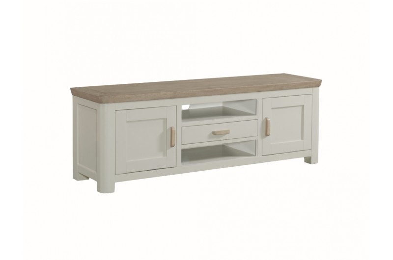 3882 thickbox default Treviso Painted Wide TV Unit With Wooden Handles