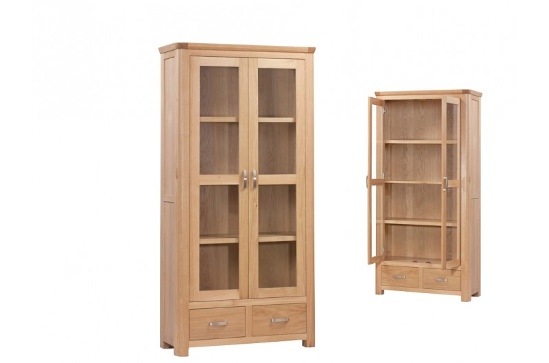 Treviso Oak Display Cabinet