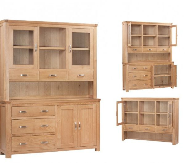3888 thickbox default Treviso Oak Large Buffet Hutch