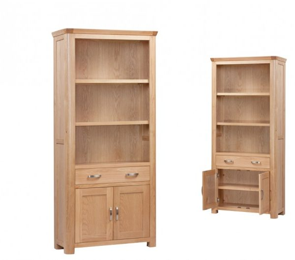 Treviso Oak High Bookcase