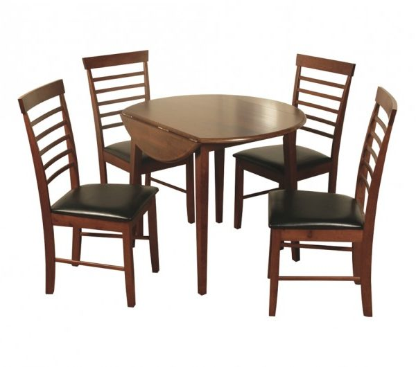 3941 thickbox default Hanover Dark Round Drop Leaf Dining Set