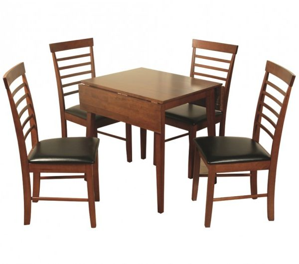 3942 thickbox default Hanover Dark Square Drop Leaf Dining Set