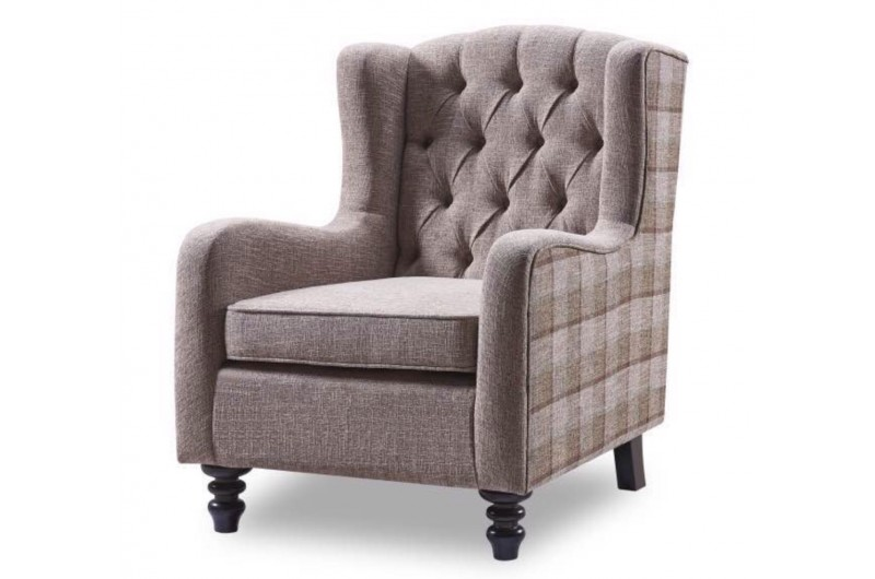 5446 thickbox default Accent Chair Brown Check