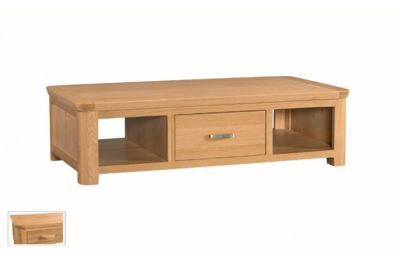 Treviso Oak Large Coffee Table With Drawer