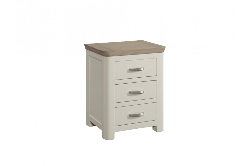 4076 thickbox default Treviso Painted 3 Drawer Nightstand With Metal Handles