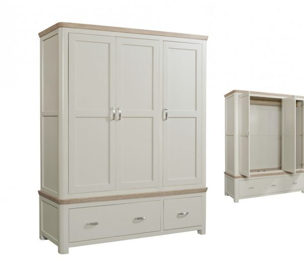 4079 thickbox default Treviso Painted Triple Wardrobe With Metal Handles