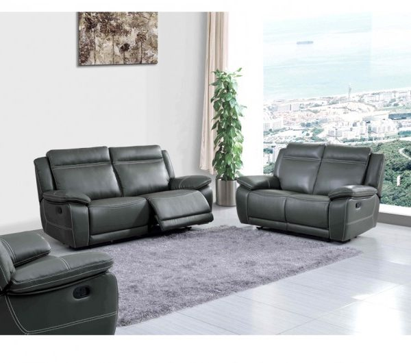 Cheshire Full Recliner Suite (Dark Grey)