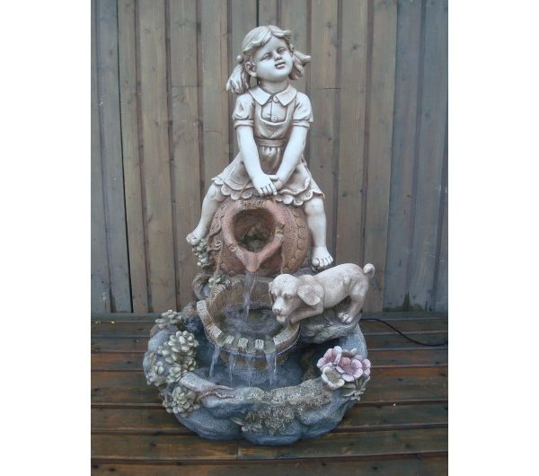 4394 thickbox default Girl and Dog Water Feature