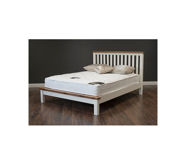Manhattan Cream & Oak Bed Frame