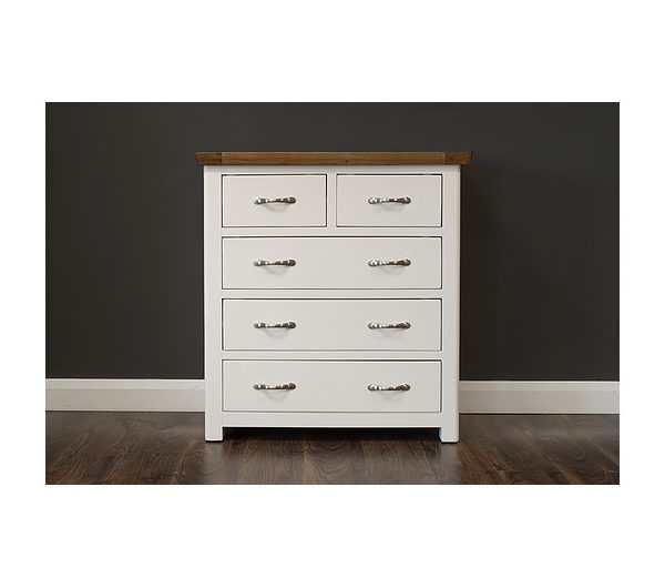 Manhattan Cream & Oak 6 Drawer Chest