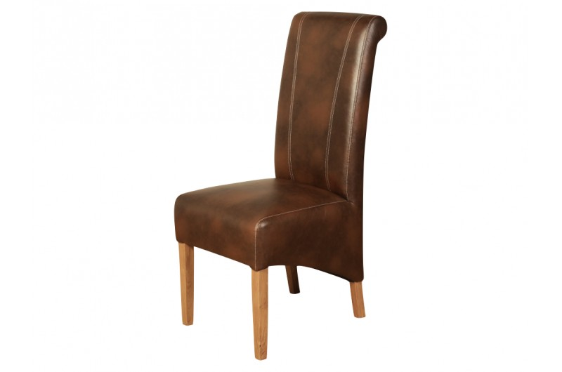 Logan Two Tone Tan Dining Chair