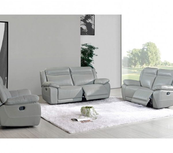 Cheshire Full Recliner Suite (Light Grey)