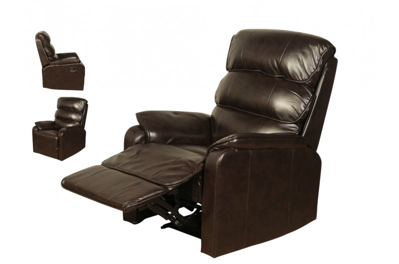 5349 thickbox default Harmony Manual Reclining Chair Two Tone Dark Brown