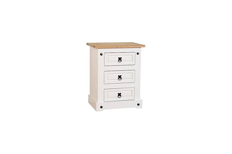 5442 thickbox default Corona 3 Drw White Bedside