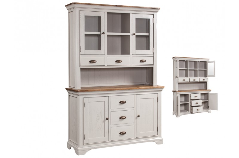 Lyon Painted 3 Door Buffet Hutch
