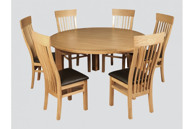 5483 thickbox default Treviso Oak 1500mm Round Dining Set With Treviso Chairs