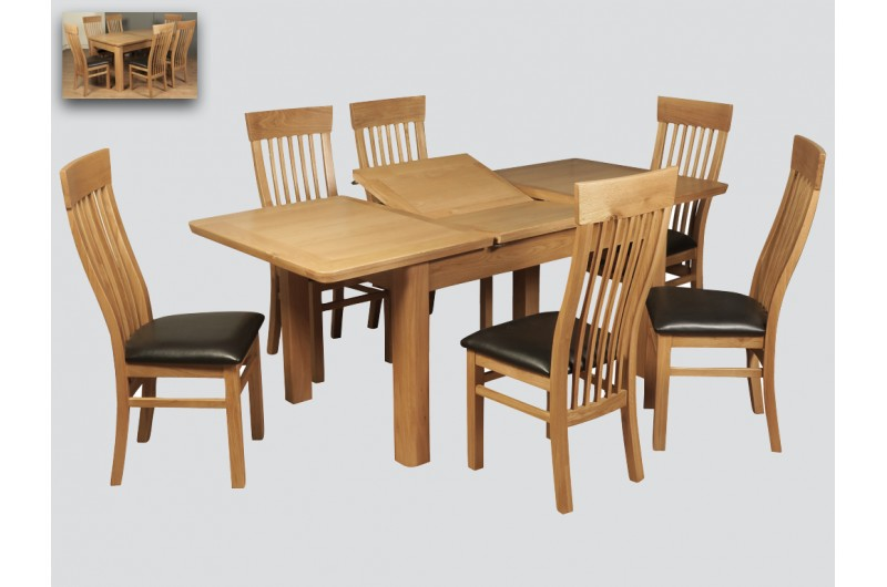 5521 thickbox default Treviso Oak 6FT Extension Dining Set