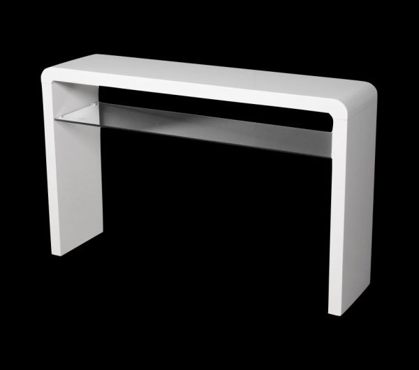 Atlantis Clarus Large Console Table White