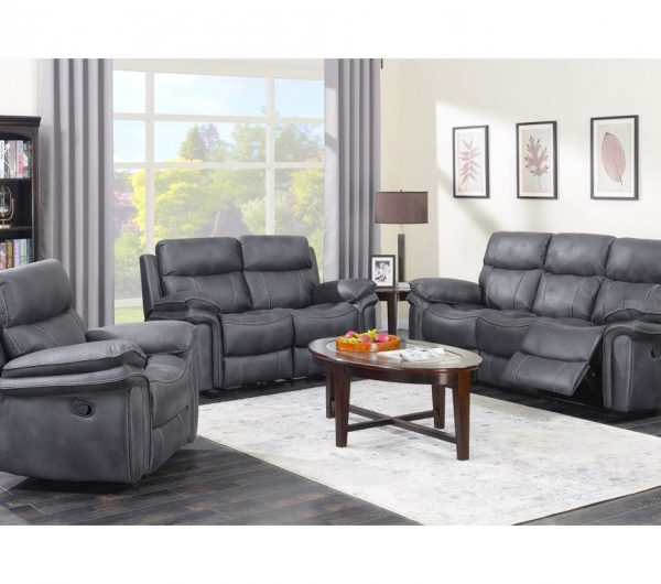 Richmond Reclining Suite (Charcoal)