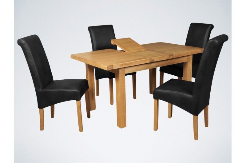 5726 thickbox default Newbridge 4x3 Butterfly Extension Dining Table Black Sophie Chairs