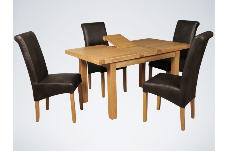 5727 thickbox default Newbridge 4x3 Butterfly Extension Dining Table Brown Sophie Chairs
