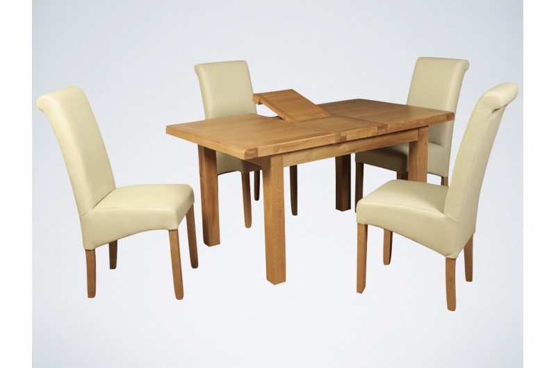 5728 thickbox default Newbridge 4x3 Butterfly Extension Dining Table Cream Sophie Chairs