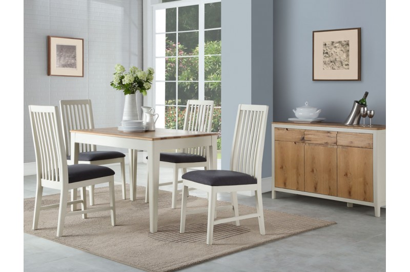 Dunmore Painted 4' Fixed Dining Set