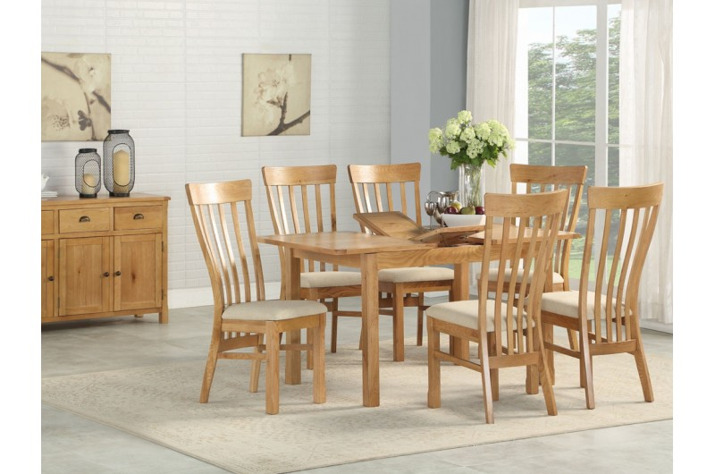 Kilmore Oak 4' Extension Dining Set