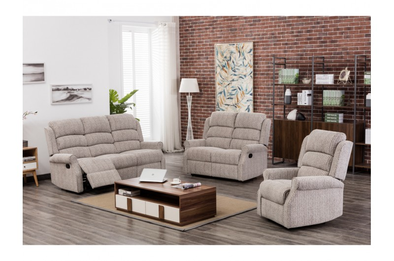 Windsor Natural Fabric Reclining Suite
