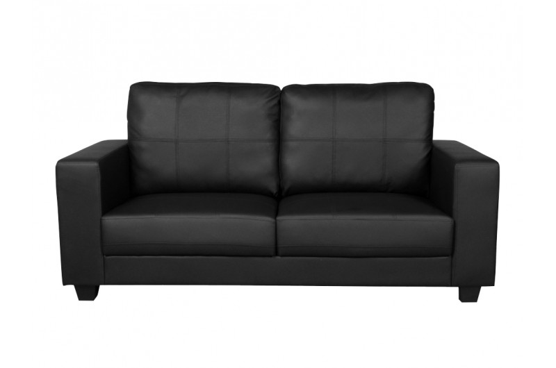 Queensbury Fixed 3 Seater (Black)