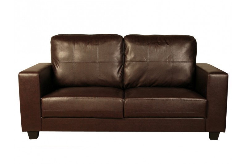 Queensbury Fixed 3 Seater (Brown)