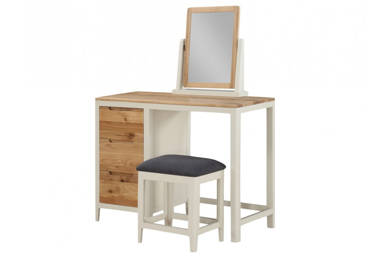 Dunmore Painted Dressing Table, Stool And Vanity Mirror