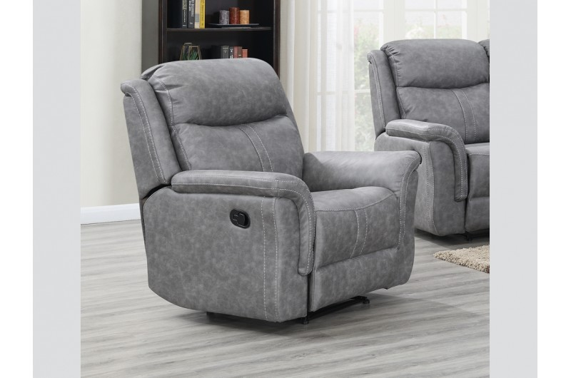6196 thickbox default Portland Silver Grey Reclining Suite Armchair