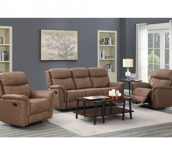 Portland Dark Taupe Reclining Suite