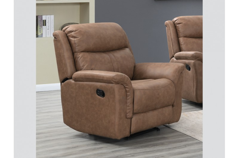 6202 thickbox default Portland Dark Taupe Reclining Suite Armchair