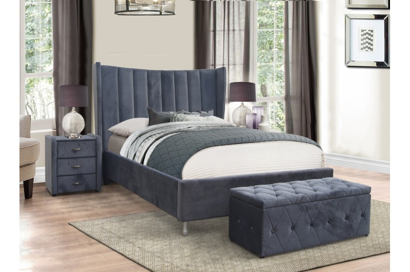 6228 thickbox default Aurora Grey Fabric Bed