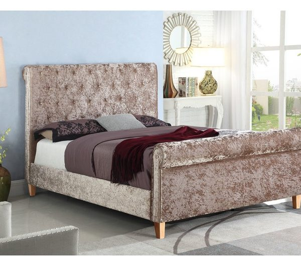 New York High End Mink Fabric Bed