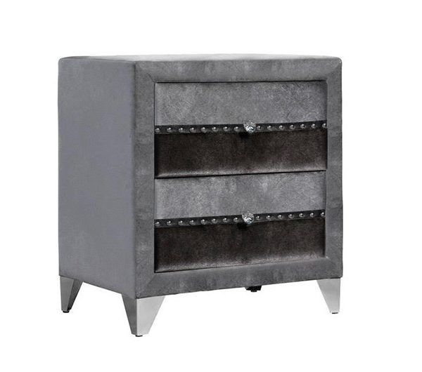 6264 thickbox default Jasmine Fabric Nightstand Grey