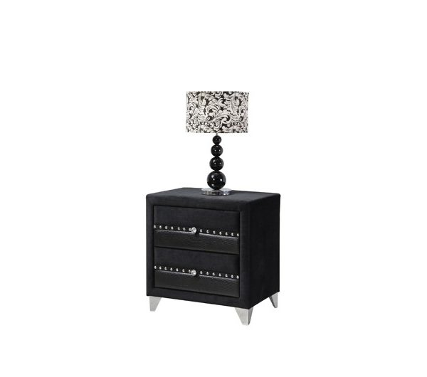 6268 thickbox default Jasmine Fabric Nightstand Black