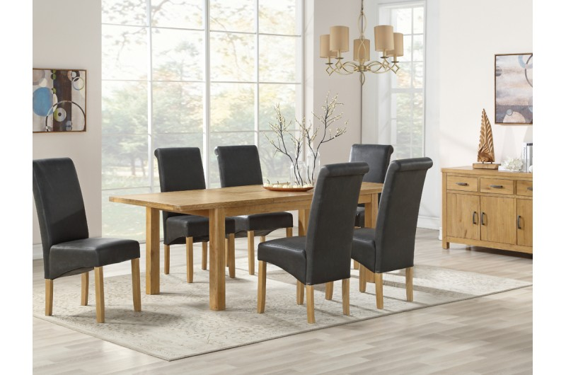 6337 thickbox default Andorra Washed Oak 1650mm Extension Dining Set