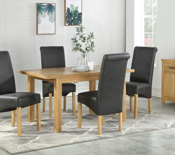 Andorra Washed Oak 1200mm Extension Dining Set