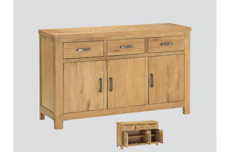 6341 thickbox default Andorra Washed Oak 3 Door Sideboard