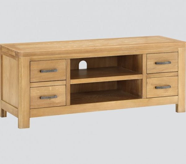 Andorra Washed Oak Straight TV Unit