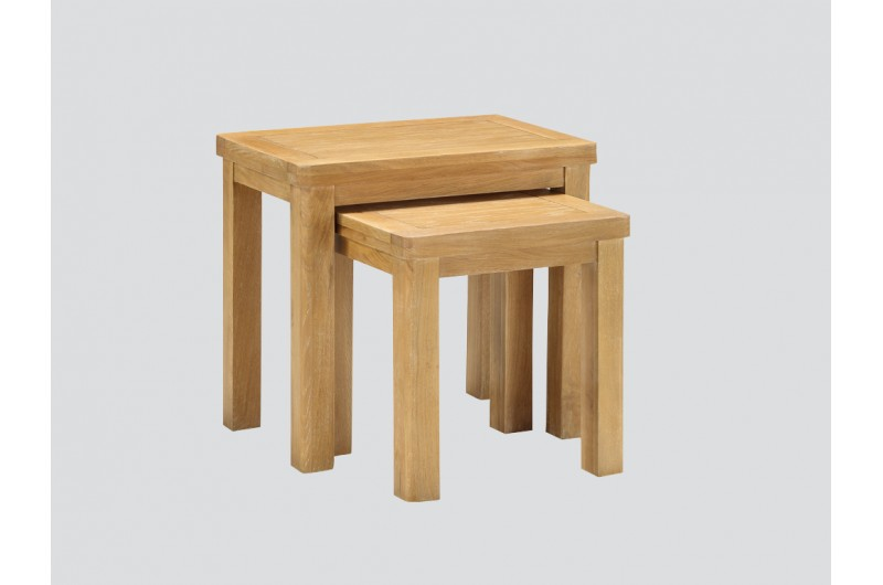 Andorra Washed Oak Nest Of Tables