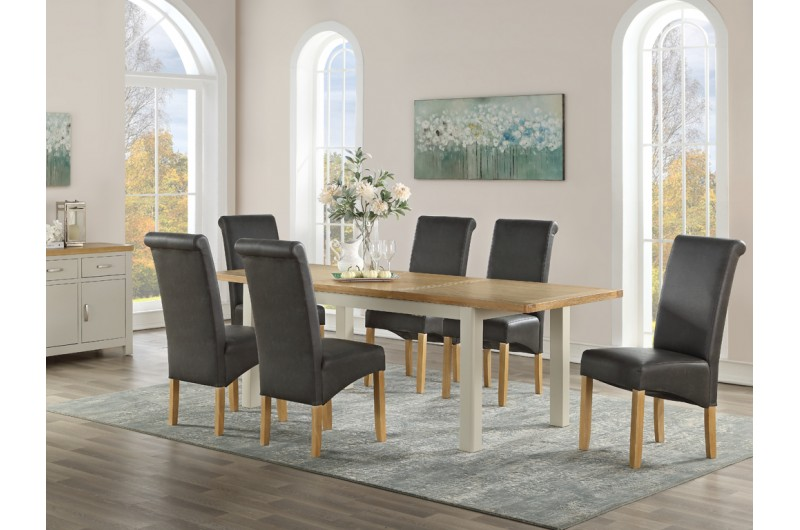 6364 thickbox default Andorra Painted 1650mm Extension Dining Set