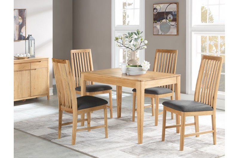 Dunmore Oak 4' Fixed Dining Set