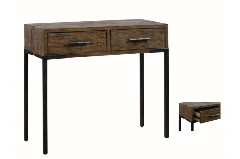 6438 thickbox default Seville Medium 2 Drawer Console Table